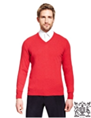 Best of British Pure Cashmere V-Neck Jumper