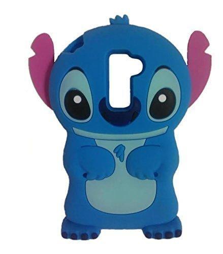 LG Tribute 5 Case,LG Escape 3 Case,Prime Case, Phenix-Color 3D Cute Cartoon Monster Blue Giant Horn University Soft Silicon Gel Back Cover Case for LG K7 / LG Tribute 5 / LG Escape 3 Amp Prime (#06)