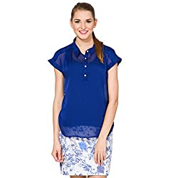 Folklore Women's Tunic Top (FOTP000105_Royal Blue_Small)