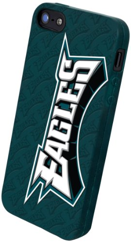 Great Price Forever Collectibles Philadelphia Eagles Team Logo Silicone Apple iPhone 5 & 5S Case