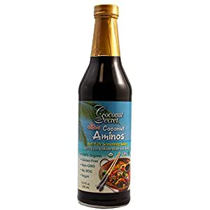 Coconut Secret Organic Raw Aminos Soy-Free Seasoning Sauce, 8 Ounce