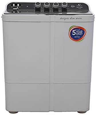 Videocon VS75Z11 Zaara Royale Semi-automatic Top-loading Washing Machine (7.5 Kg, Ebony Black)