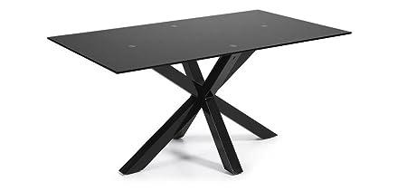 The Form-ARYA Table 180 X 100 Black Epoxy C01 Black Glass