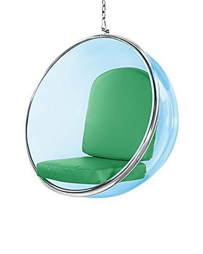 Manhattan Living Blue Bubble Hanging Chair, Green