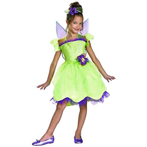 GSG Dlx Rainbow Costume Kids Fairy Princess Halloween Fancy Dress
