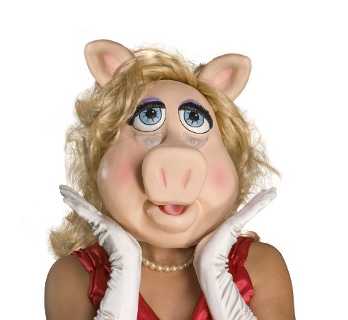 The Muppets Adult Miss Piggy Overhead Latex Mask