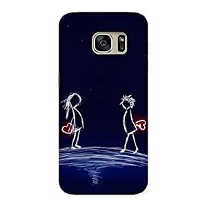 Impressive Sky Couple Back Case Cover for Galaxy S7