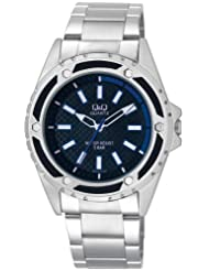 Q&Q Black Dial Men's Watch - Q654N202Y