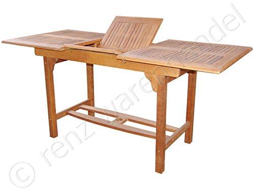 Gartenmöbel / Gartentisch ausziehbar auf 160cm – Eukalyptus günstig online kaufen