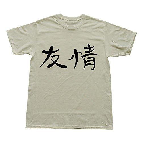Stabe Valentine'S Day Men'S Kanji Friendship T-Shirt O Neck Sport L Natural