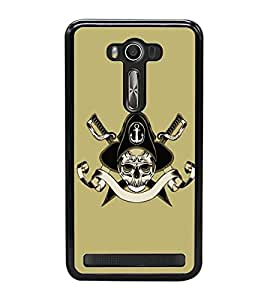 Vizagbeats Skull and Cross bones Back Case Cover for ASUS ZENFONE LASER 550KL