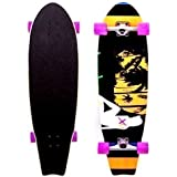 XQ MAX LONGBOARD CRUISER LONG SKATE BOARD SKATEBOARD BEACH TRUCKS DECK WHEELS