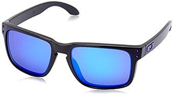 Holbrook Toxic Black Sunglasses dark grey/violet iridium