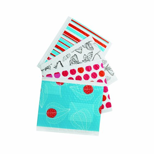 assorted decorative poly bubble mailer size 5 10 5 x 15 25