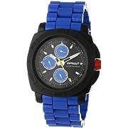 Sprout Unisex ST/3800BKBL Blue Corn Resin Bracelet  Multi-Function Watch