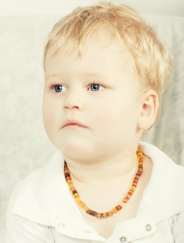 Luxurious Buttons Baltic Amber Teething Necklace