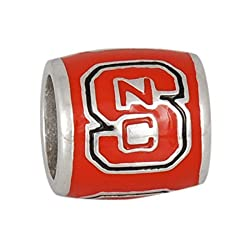 Teagan Collection North Carolina State Wolfpack Red NC on a Red Bead
