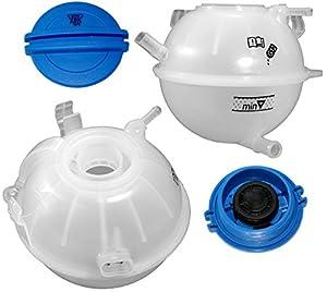APDTY 714138 Coolant Overflow Fluid Reservoir Bottle Includes Pressure Cap & Integrated Low Coolant Level Sensor Fits 2000-2006 Audi TT (Includes Quattro) / 1999-2012 Volkswagen Golf / 1999-2005 Jetta (Includes 1999-2001 GL & GLS) by APDTY