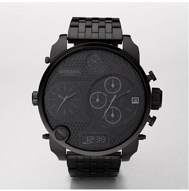 Diesel Men's DZ7214 Black Stainless-Steel Quartz Watch with Black Dial