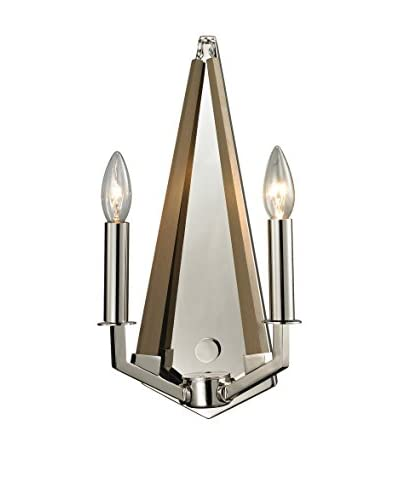 Artistic Lighting Madera Collection 2-Light Sconce, Polished Nickel