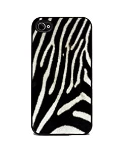 Zebra Print - iPhone 4 or 4s Cover, Cell Phone Case - Black