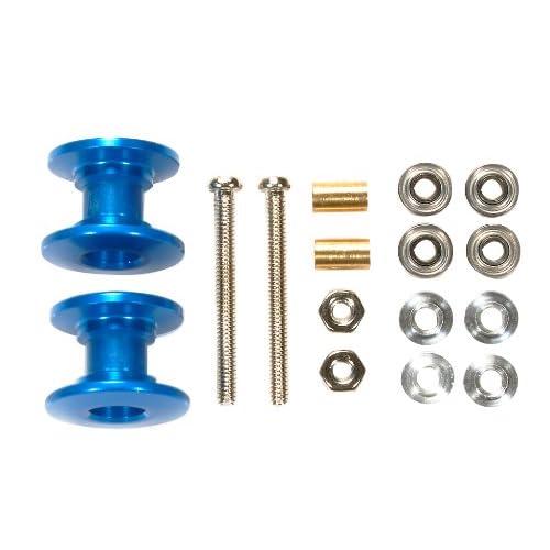 ミニ四駆限定シリーズ 軽量2段アルミローラーセット (13-12mm) (ブルー) 94979