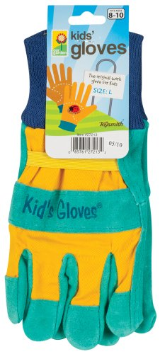 Toysmith Kids Garden Gloves, Assorted Colors, Large