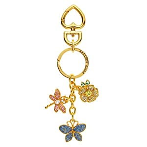 Juicy Couture Pave Butterfly and Dragonfly Keyfob Key Chain Handbag Decoration Ysru 2787