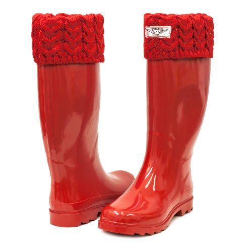 Elegant HUNTER ORIGINAL TALL GLOSS MILITARY RED RAIN BOOTS WOMEN WFT1000RGL   EBay