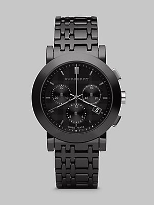 Burberry Men's Chronograph Watch with Ceramic Bracelet