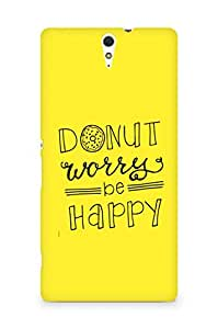 AMEZ donut dont worry be happy Back Cover For Sony Xperia C5