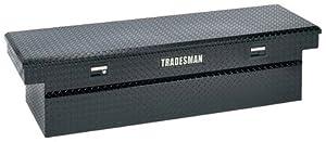 Lund/Tradesman 79100DB 71-Inch Aluminum Full Lid Cross Bed Truck Tool Box, Diamond Plated, Black