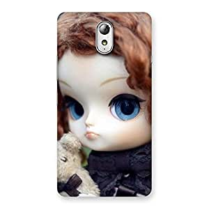 Cute Teddy with Doll Back Case Cover for Lenovo Vibe P1M