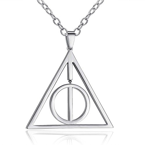 YELLOW CHIMES Famous Harry Potter Deathly Hallows Pendant for Men And Women …