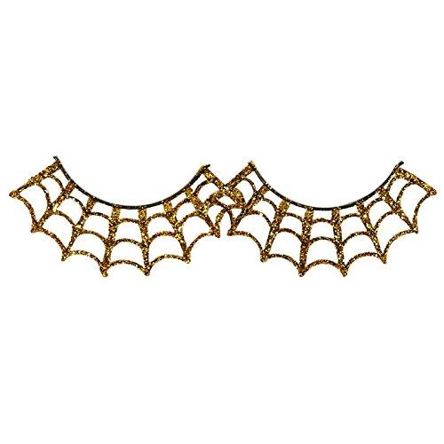 [Gold Spiderweb Eyelashes] (Spider Web Eye Makeup)