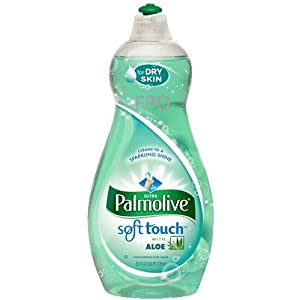 Image: Palmolive Ultra Soft Touch Dish Liquid, 25 Ounce (Pack of 2) - Leaves even your toughest dishes, pots, and pans sparkling clean