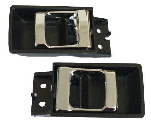 LatchWell PRO-4000678 Interior Door Handle Pair in Black & Chrome for Nissan Hardbody Pickup Truck & Pathfinder (Nissan Hardbody Door Handle compare prices)
