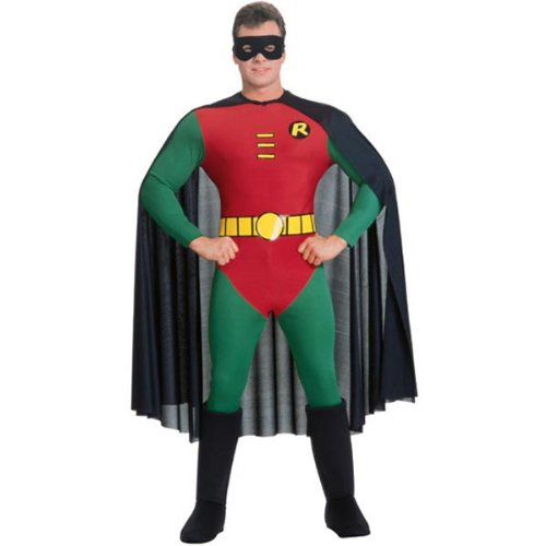 Licensed Robin Adult Super Hero Costume - S, M or L