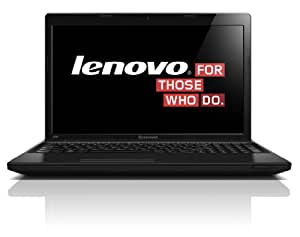 Lenovo IdeaPad G585 39,6 cm (15,6 Zoll) Notebook (AMD E1-1500, 1,5GHz, 2GB RAM, 320GB HDD, Radeon 7310, DVD, Win 8) schwarz