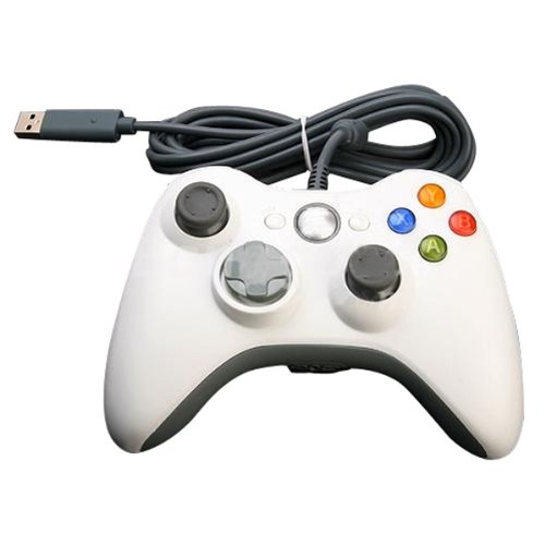 Meco Wired Usb Game Pad Controller Joypad For Microsoft Xbox 360 Pc Windows White