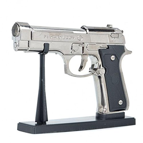 YINO U.S.9mm M9 Pistol Shaped Butane Jet Torch Gun Style Windproof Cigarette Lighter With Holder