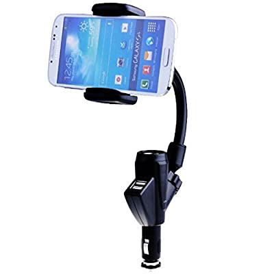 SPINC MicroNano Dual 2 USB Car Charger Cradle Mount Holder Stand for Galaxy S4 S3 S IV Note 3 2 iPhone 5S 5C 5 4S 4 at Sears.com