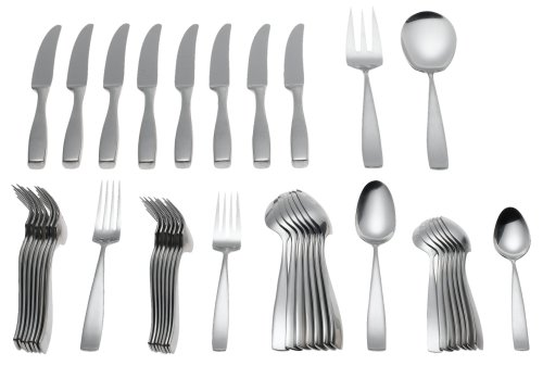 Yamazaki Bolo 42-Piece Stainless Steel Flatware Set, Service for 8