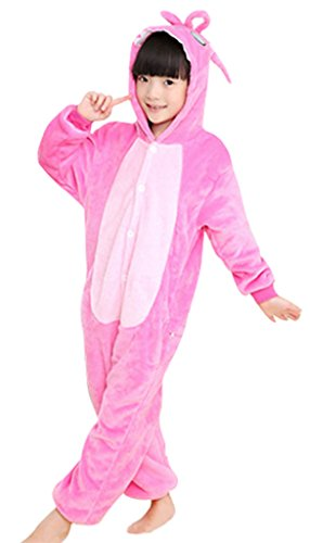 GILLBRO caldo anime costume pigiama bambini cosplay Onesies pigiama, Rosa J 115 cm