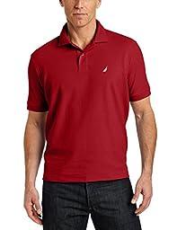 Nautica Men\'s Big & Tall Solid Deck Polo Shirt, Nautica Red, 3XLT