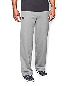 Under Armour Men's Armour® Fleece Open Bottom Team Pants Extra Large True Gray Heather