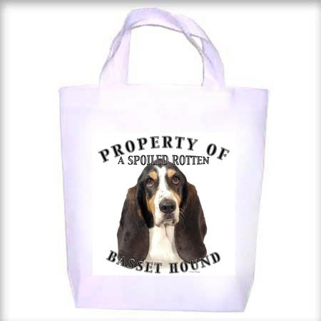 Basset Hound TRI Property Shopping - Dog Toy - Tote Bag