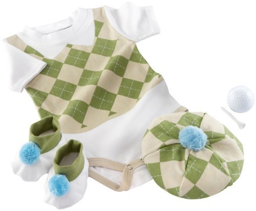 "Baby Aspen ""Sweet Tee"" 3 Piece Golf Layette Set in Golf Cart Packaging, 0-6 Months"
