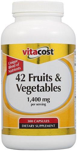 Vitacost 42 Fruits & Vegetables -- 1,400 Mg Per Serving - 300 Capsules