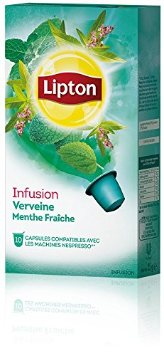 Order LIPTON Infusion Verbena and Mint (Nespresso Compatible TEA Capsules) - 10 caps / box - 60 caps TOTAL by LIPTON - UNIVER